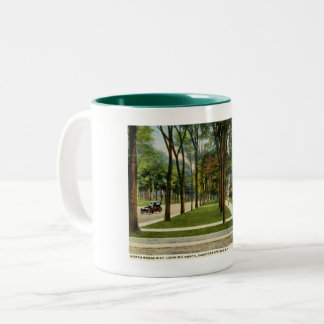 North Broadway, Saratoga Springs, NY Vintage Two-Tone Coffee Mug