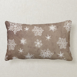 North Brown Snowflakes Pillow