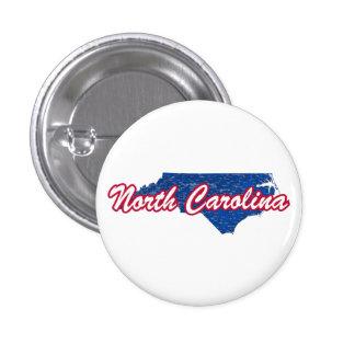 North Carolina 1 Inch Round Button