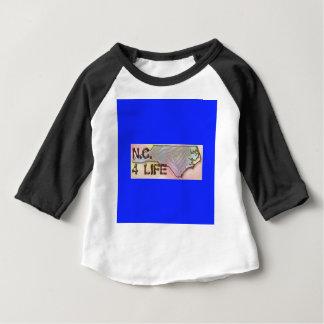 """North Carolina 4 Life"" State Map Pride Design Baby T-Shirt"