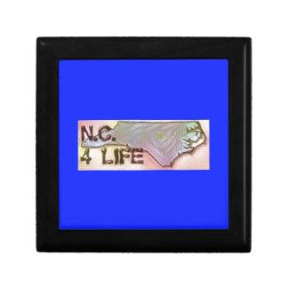 """North Carolina 4 Life"" State Map Pride Design Gift Box"