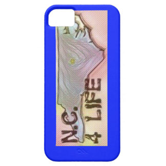 """North Carolina 4 Life"" State Map Pride Design iPhone 5 Covers"