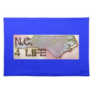 """North Carolina 4 Life"" State Map Pride Design Placemat"