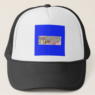 """North Carolina 4 Life"" State Map Pride Design Trucker Hat"