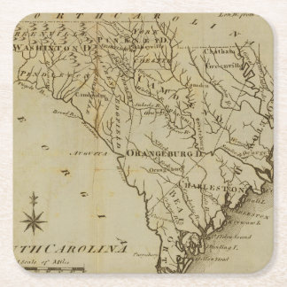 North Carolina 8 Square Paper Coaster