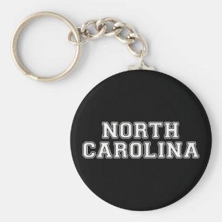 North Carolina Basic Round Button Keychain