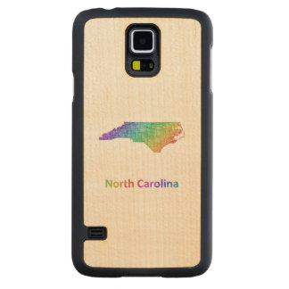 North Carolina Carved Maple Galaxy S5 Case