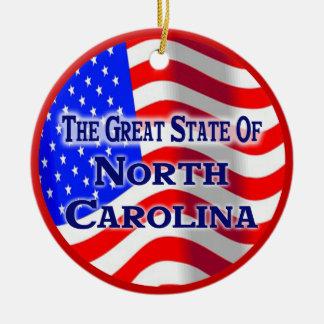 North Carolina Ceramic Ornament