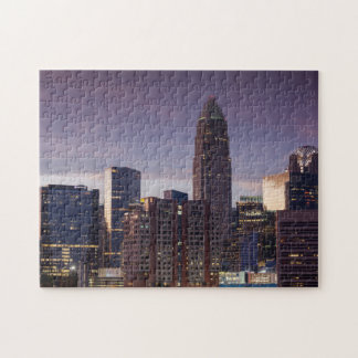 North Carolina, Charlotte, elevated view Jigsaw Puzzle