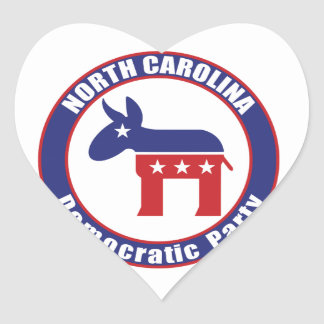 North Carolina Democratic Party Heart Sticker