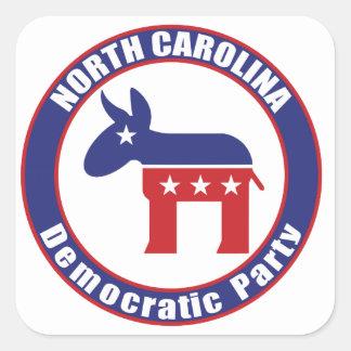 North Carolina Democratic Party Square Sticker