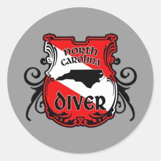 North Carolina Diver Classic Round Sticker