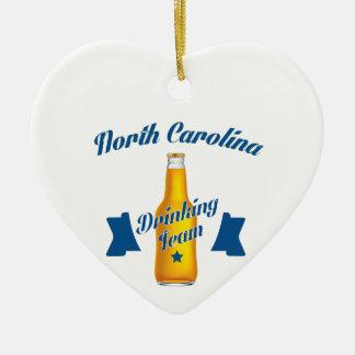 North Carolina Drinking team Ceramic Ornament