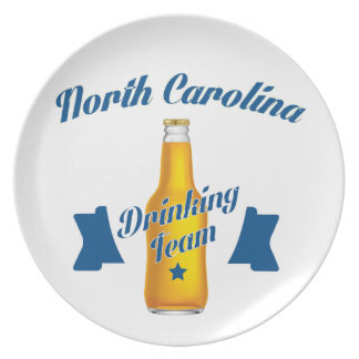 North Carolina Drinking team Plate