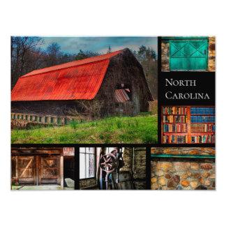 North Carolina Farm Barn Rustic Photography Photo Print