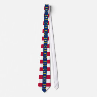 North Carolina flag, American state flag Tie