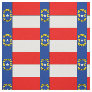 NORTH CAROLINA Flag Fabric