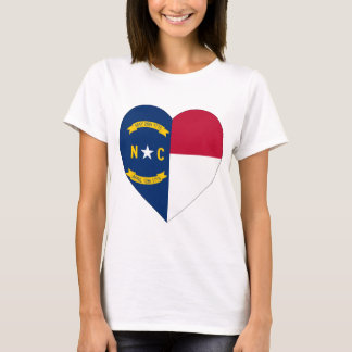 North Carolina Flag Heart T-Shirt
