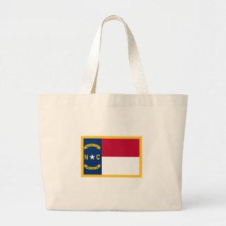 North Carolina Flag Large Tote Bag