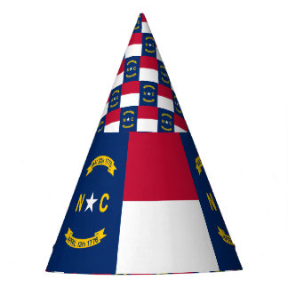 North Carolina Flag Party Hat