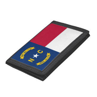 North Carolina Flag Trifold Wallet