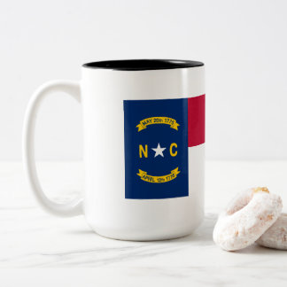 North Carolina Flag Two-Tone Coffee Mug