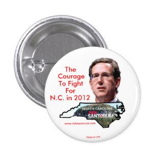 North Carolina for Rick Santorum 1 Inch Round Button