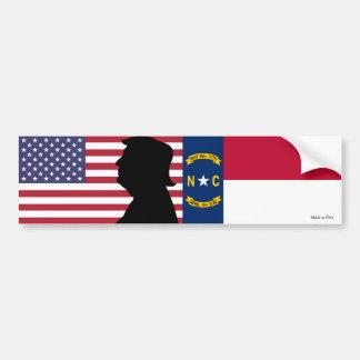 North Carolina for Trump Bumper Sticker