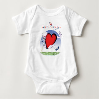 north carolina head heart, tony fernandes baby bodysuit
