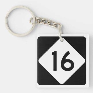 North Carolina Highway 16 Keychain