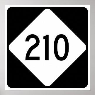 North Carolina Highway 210 Poster