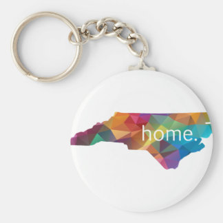 North Carolina HOME Low Poly Keychain