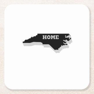 North Carolina is Home Love North Carolina Square Paper Coaster