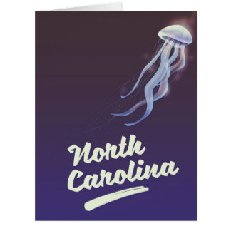 North Carolina Jellyfish travel poster Card