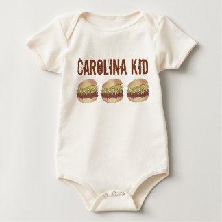 North Carolina Kid NC Pork BBQ Barbecue Sandwich Baby Bodysuit