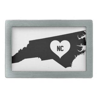 North Carolina Love Belt Buckle