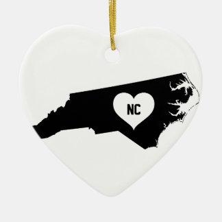 North Carolina Love Ceramic Ornament