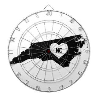 North Carolina Love Dartboard