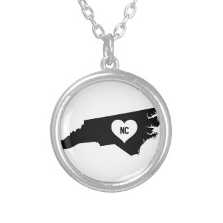 North Carolina Love Silver Plated Necklace