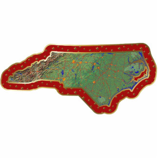 North Carolina Map Christmas Ornament Cut Out