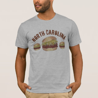 North Carolina NC Style Pork BBQ Barbecue Sandwich T-Shirt