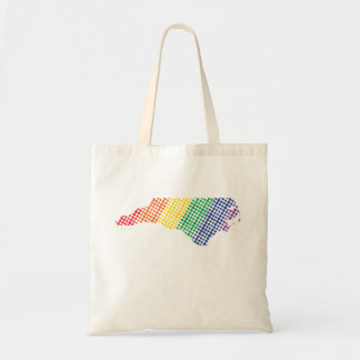 North Carolina Rainbow State Tote Bag