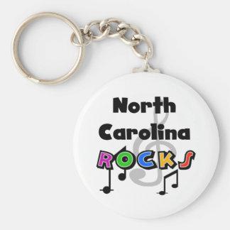 North Carolina Rocks Basic Round Button Keychain