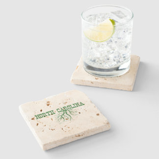 North Carolina Roots Stone Beverage Coaster