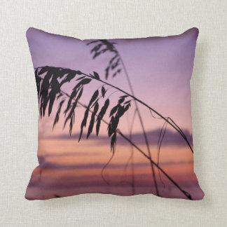 North Carolina Sea Oats Throw Pillow