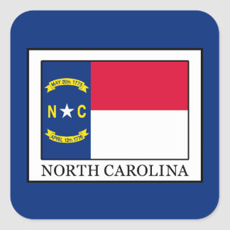 North Carolina Square Sticker