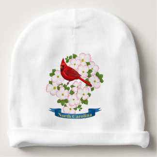 North Carolina State Cardinal Bird Dogwood Flower Baby Beanie