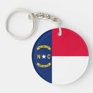 North Carolina State Flag Design Keychain