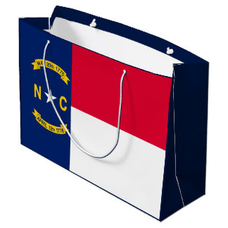 North Carolina State Flag Design Large Gift Bag
