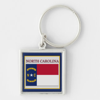 North Carolina State Flag Design Premium Keychain